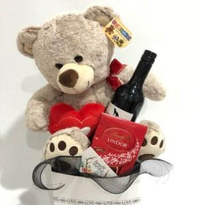 Big teddy, Chocs and Wine